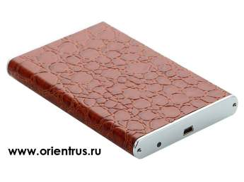 "Корпус 2.5"" HDD External Aluminum/leather case <Orient 2508 U2>(внеш. бокс для подключ. 2.5"" SATA HDD)"
