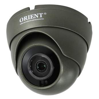 Купольная цифровая IP-камера ORIENT IP-950g-SH24BP, 2.4 Mpx Sony IMX323+Hi3516C, 1080p/960p/720p, IR-cut, waterproof socket, объектив 3.6 мм, встроенный модуль POE, цвет тёмно-серый